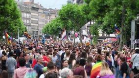 Przesunięcie obiektyw nad homoseksualnej dumy paradą zbiory wideo