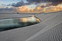 Przesuwanie się piaski Zdjęcie Royalty Free