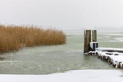 Przesyła w zima czasie w Ahrenshoop, Niemcy Zdjęcie Stock