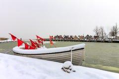 Przesyła w zima czasie w Ahrenshoop, Niemcy Zdjęcie Royalty Free