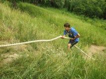 Przeszkoda kurs przy turystyki konwencją w Kaluga regionie Rosja fotografia royalty free