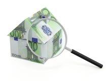 Przeszukanie domu euro Zdjęcia Stock