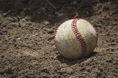 Przetarta baseball piłka Fotografia Royalty Free
