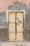 Przetartego starego metalu Sal Rei drzwiowy przylądek Verde obraz royalty free
