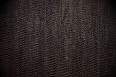 Przetarty czarny cajgowy tło Zdjęcia Stock