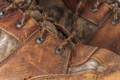 Przetarty polowanie but Zdjęcie Stock