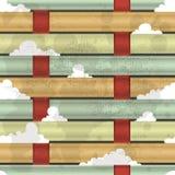 Przetkani włókna i chmury royalty ilustracja