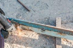 Przetwarzać metal mleć metal rżnięty metal Obraz Royalty Free