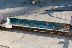 Przetwarzać metal mleć metal rżnięty metal Zdjęcie Stock