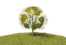 Przetwarzać znaka na drzewie ilustracji