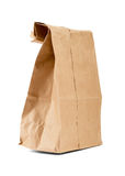 Przetwarza brown papierową torbę Zdjęcia Royalty Free