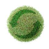 przetwarza globe green Zdjęcia Royalty Free