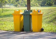 Przetwarza kosze w parku Zdjęcie Royalty Free