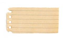 Przetwarzać Prążkowanego Papierowego świstek. Zdjęcia Royalty Free