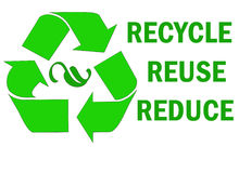 Przetwarza reuse zmniejsza słowo Obraz Stock