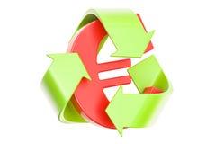 Przetwarza symbol z euro znakiem, 3D rendering Zdjęcia Royalty Free