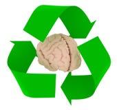 Przetwarza symbol z ludzkim mózg ilustracja wektor