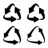Przetwarza trójgraniastego strzałkowatego eco symbol ilustracja wektor