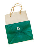 Przetwarza papierową torbę fotografia royalty free