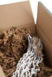 Przetwarzam gofrował karton w pudełku Zdjęcie Stock