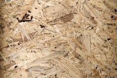 Przetwarzam kompresował drewnianego chipboard Naciskający Drewniany panel & x28; OSB& x29; Obrazy Stock