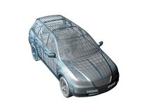 przewód samochodu Ilustracji