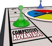 Przewagi Konkurencyjnej gry planszowa kawałka Poruszający zwycięzca Naprzód royalty ilustracja