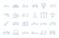 Przewiezione ikony royalty ilustracja