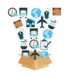 Przewiezione logistyki ilustracji