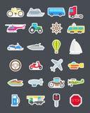 Przewiezione wektorowe ikony ustawiać royalty ilustracja