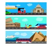 Przewiezionej podróży horyzontalni sztandary Ilustracja Wektor