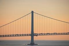 Przewieziony most nad morzem Zdjęcia Stock