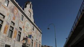 Przewieziony statek mi?dzy morzem i ska?ami w zatoce los angeles Spezia Liguria zbiory