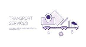 Przewiezionych usługa dostawy sieci sztandaru szablon Z kopii przestrzenią Zdjęcia Royalty Free