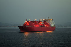 przewoźnika gazu lng naturalny statek Fotografia Royalty Free