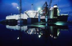 Przewożenie statek w doku Melbourne Australia zdjęcia royalty free