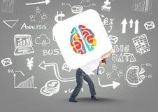 Przewożenie w tylnych mózg kolorach Biznesowej grafiki tło royalty ilustracja