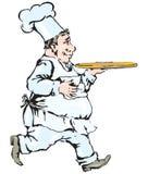 przewożenia szef kuchni taca Obraz Stock