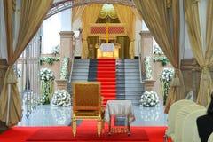 Przewodniczącego siedzenie w kremaci ceremonii Zdjęcia Royalty Free