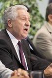 Przewodniczący Demokratyczny Lewy Fotis Kouvelis zdjęcie stock