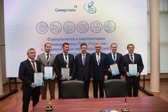 Przewodniczący zarządzanie deska PJSC Gazprom A młynarki zdjęcia stock
