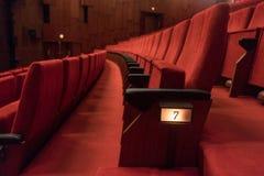 przewodniczy czerwonego teatr Fotografia Stock