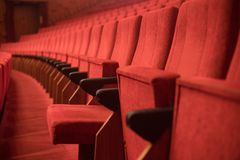 przewodniczy czerwonego teatr Fotografia Royalty Free