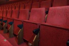 przewodniczy czerwonego teatr Obraz Royalty Free