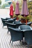 przewodniczy plenerowych parasole Obraz Royalty Free