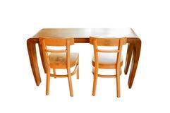 przewodniczy stół drewnianego dwa Fotografia Stock