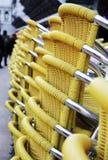 przewodniczy ulicznego kolor żółty Fotografia Stock
