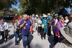 Przewodnik Wycieczek i grupa Fotografia Royalty Free