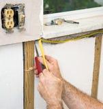 przewody elektryczne zainstalowane Fotografia Stock