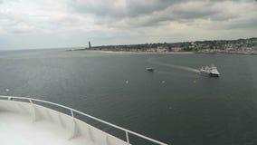Przewozi opuszczać habor Kiel Holstein, Niemcy w kierunku Oslo (,) zbiory